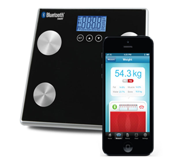 Bluetooth Body Fat Water Bone Muscle Scale