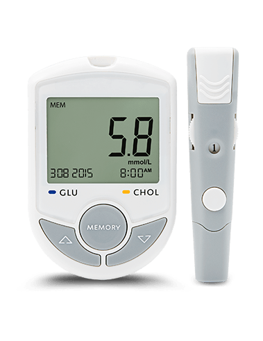 Bluetooth Blood Glucose and Cholesterol Meter