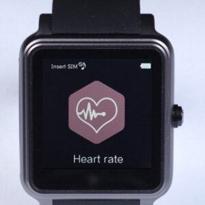 black Smart Watch Bluetooth Pedometer with heart rate icon