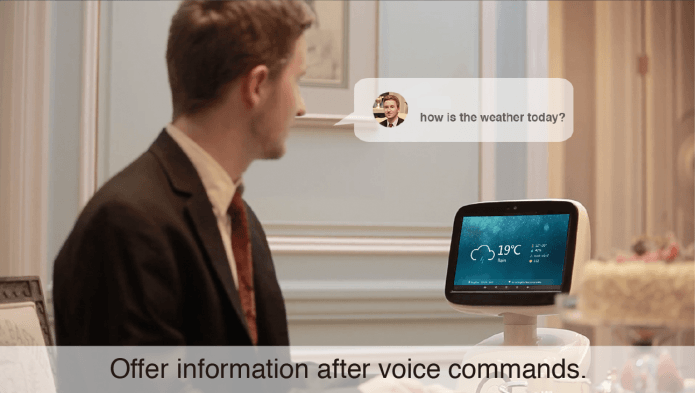 Telepresence robot with interactive speech