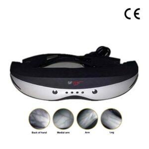 3D head mounted portable vein finder device