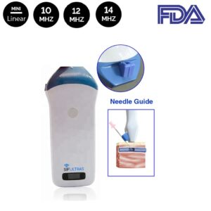 Ultrasound scanner with needle guide
