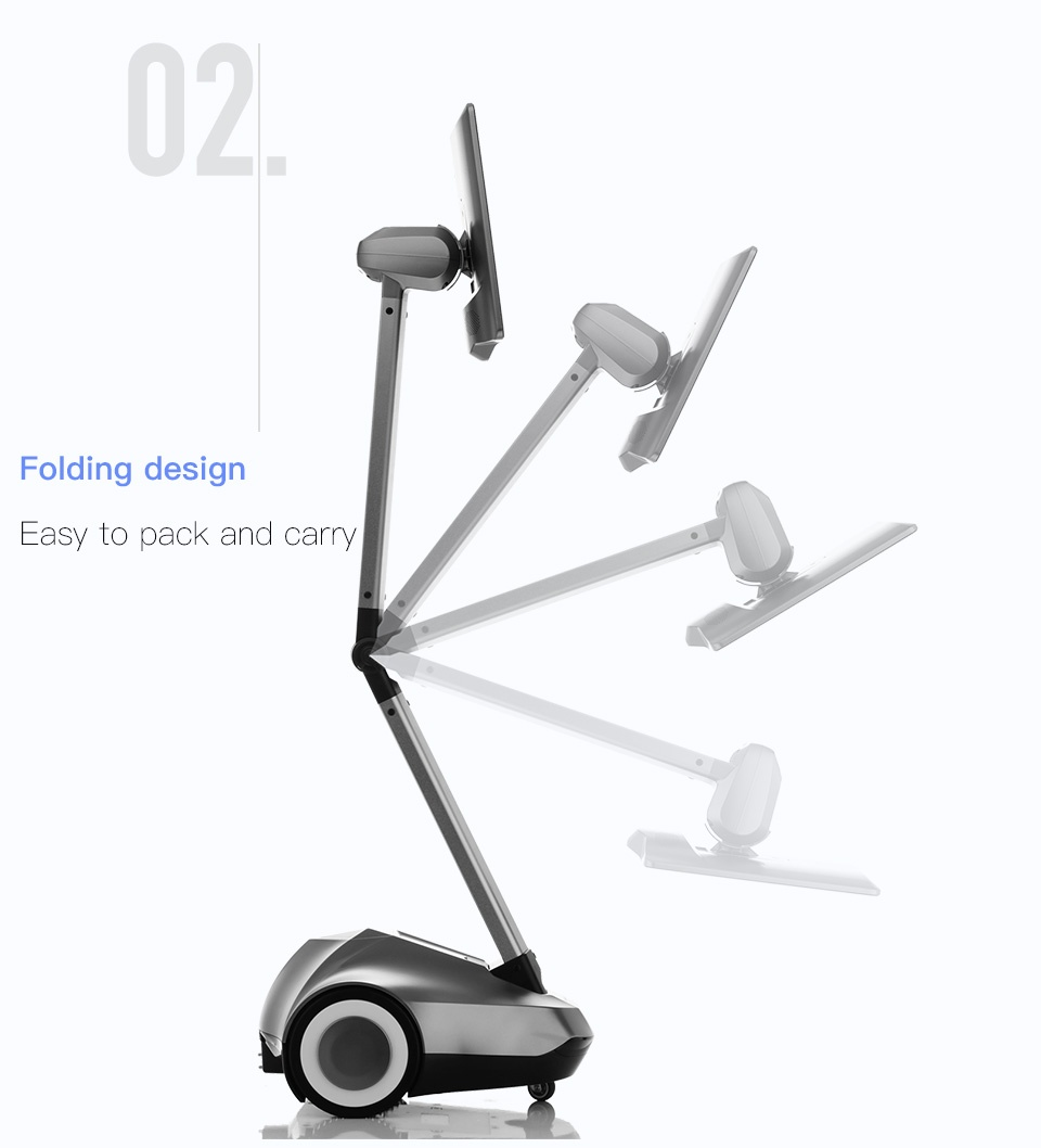 Remote Control Telepresence Robot SIFROBOT-4.1 With Face And Speech Recognition  Folding design