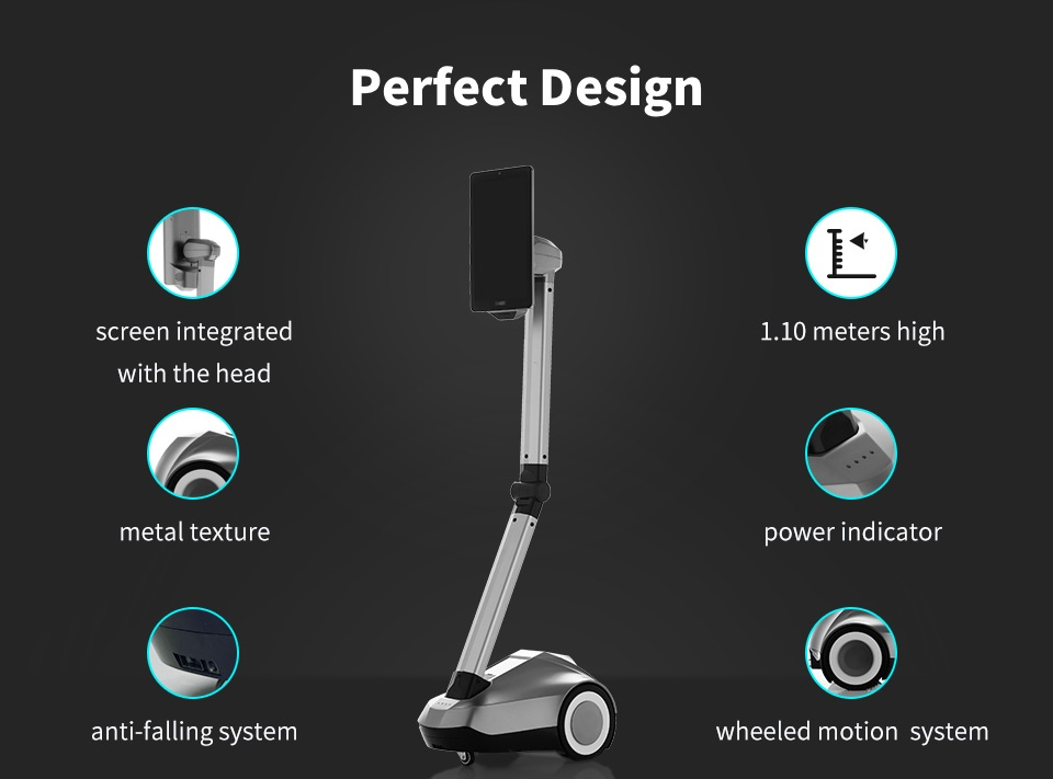 Remote Control Telepresence Robot SIFROBOT-4.1 With Face And Speech Recognition perfect design