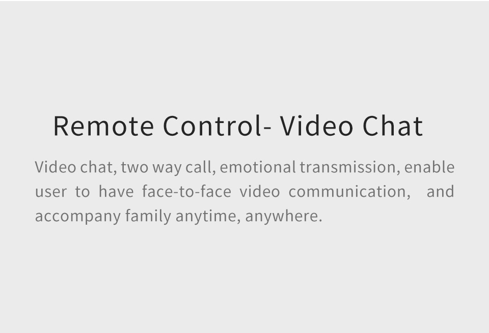 SIFROBOT-4.2 remote ontrol video chat