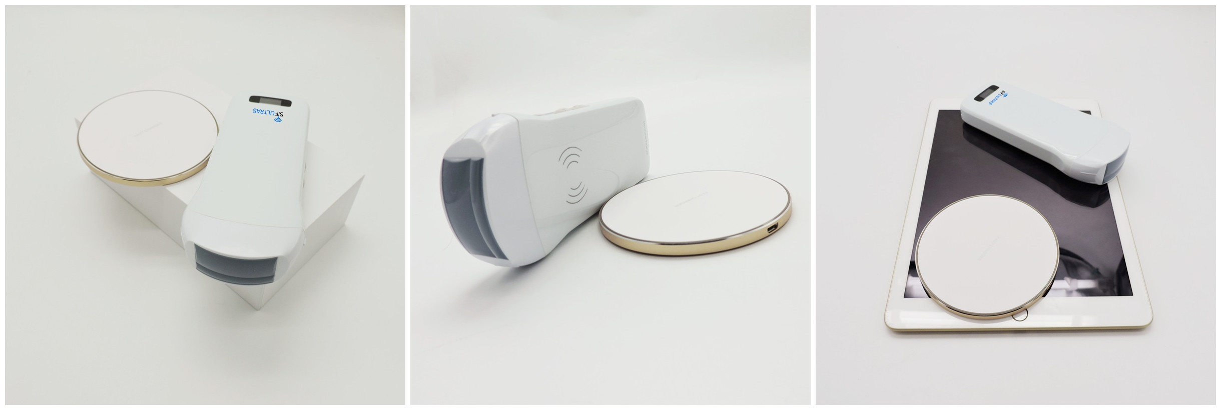Wireless 3 in 1 Ultrasound Scanner SIFULTRAS-3.3 Triple Headed: Convex, Linear and Cardiac Probe  Ultrasound Scanner