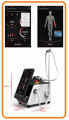 Smart Medical 26.2Watt Diode Laser SIFLASER-3.2 size