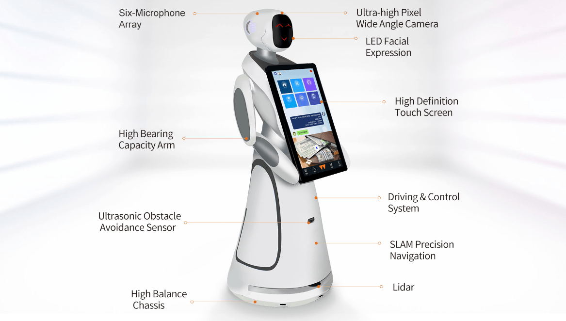 Humanoid Intelligent Commercial Service Robot SIFROBOT-5.3