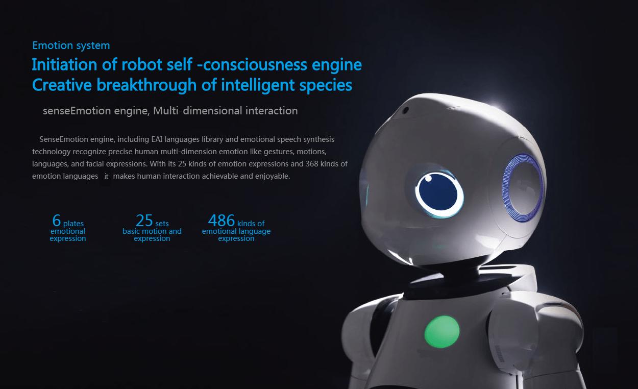AI Humanoid Commercial Service Robot SIFROBOT-6.0 self consciousness