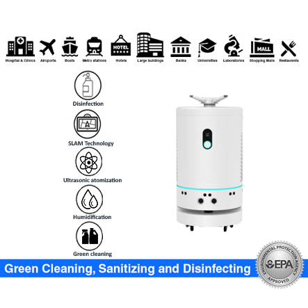 SIFROBOT-6.3 disinfection and humidification robot can sterilize and humidify an area at the same time