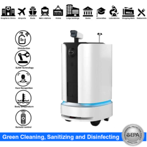Disinfection Robot & Temperature checker with AI facial Mask detection . SIFROBOT-6.4 main pic