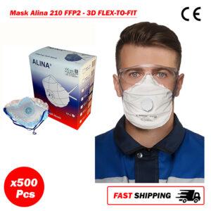 500 x SIFMASK-2.3: DisposableRespirator with Exhalation Valve