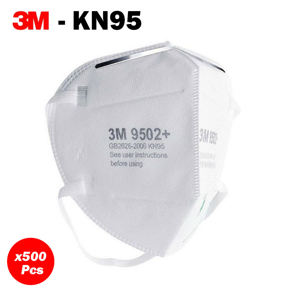 500 units of KN95 Masks - 3M 9502+ Respirator Face Mask