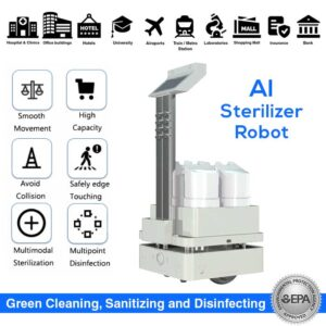 AI Sterilizer Robot, Automatic UV and Spraying Disinfection - SIFROBOT-6.55 main pic