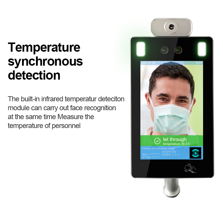 Wall-mounted Face Recognition Infrared Non-Contact Thermometer - SIFROBOT-7.4 Non-Contact Thermometer