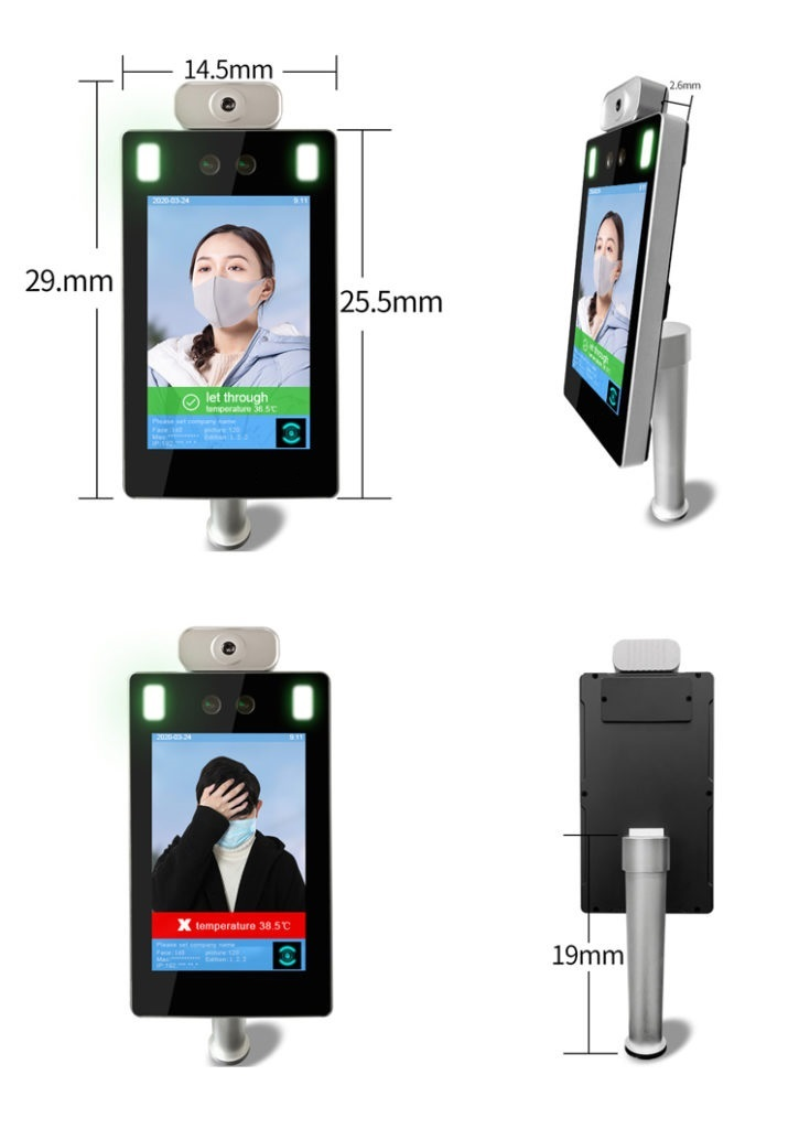 Standing Face Recognition Infrared Non-Contact Thermometer - SIFROBOT-7.23 size-