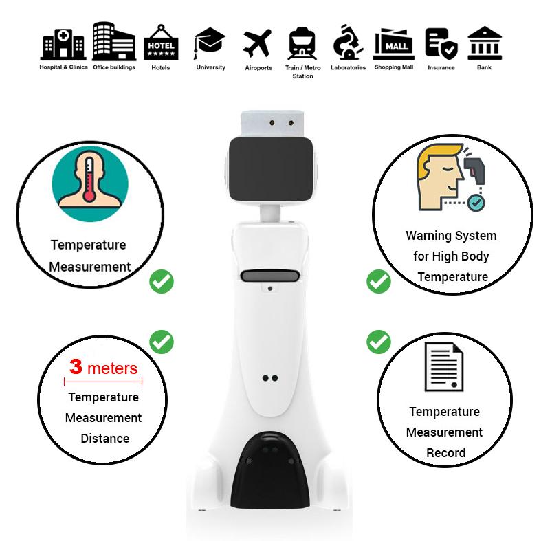 Intelligent Service Robot-with-temperature-checker