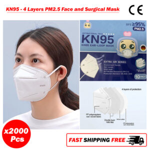 KN95 4 Layers Face and Surgical Mask PM2.5