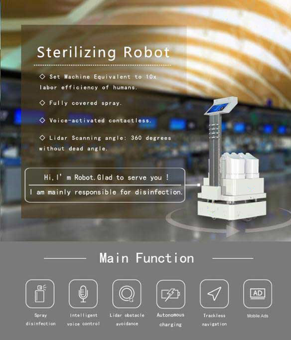 Sterilizing Robot main-functions