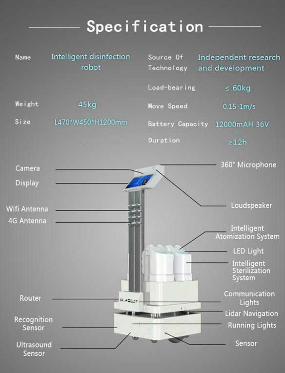 disinfection-robot-specifications