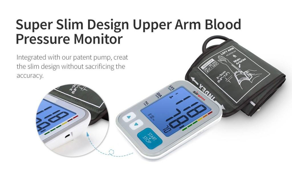 Accurate Upper Arm Blood Pressure Monitor SIFBPM-3.4 slim design