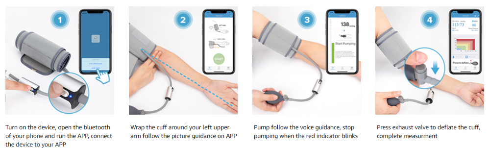 Wireless Upper Arm Portable Blood Pressure Monitor SIFBPM-3.6