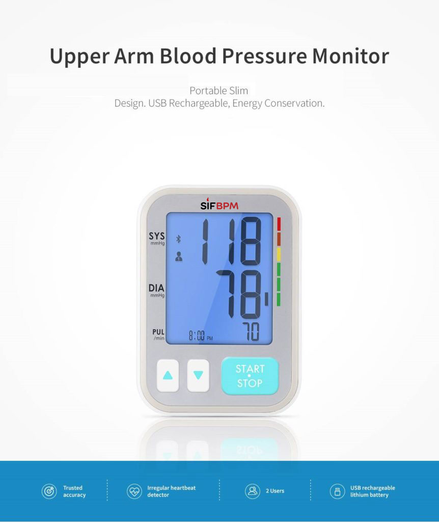 Accurate Upper Arm Blood Pressure Monitor SIFBPM-3.4 upper arm