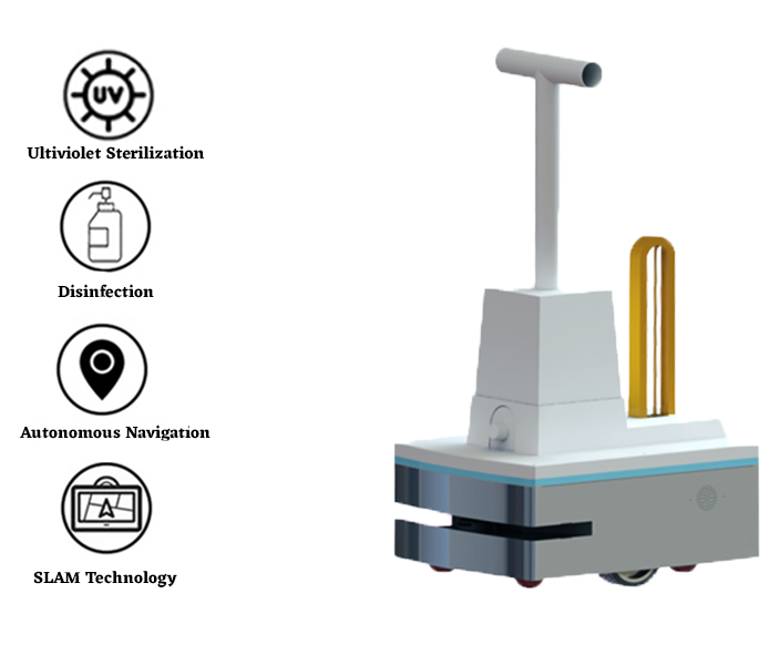 Dry Fog and UVC light Disinfection Robot: SIFROBOT-6.62 main pic