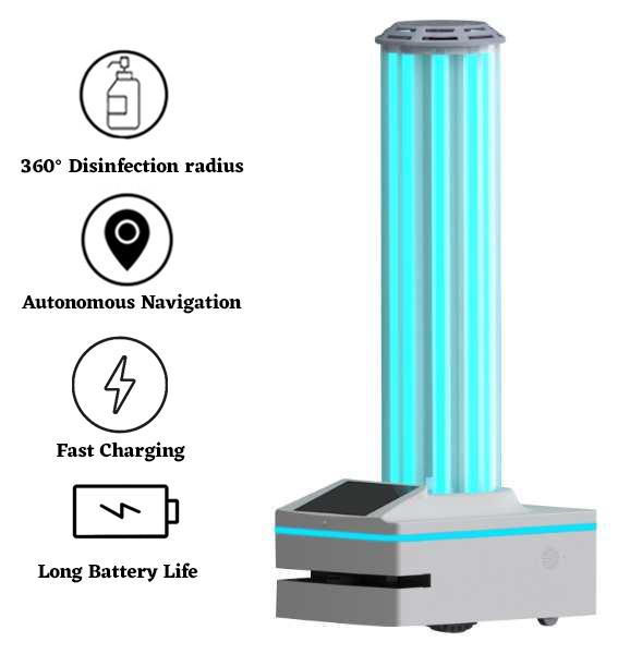 Autonomous UVC Disinfection Robot: SIFROBOT-6.53 main