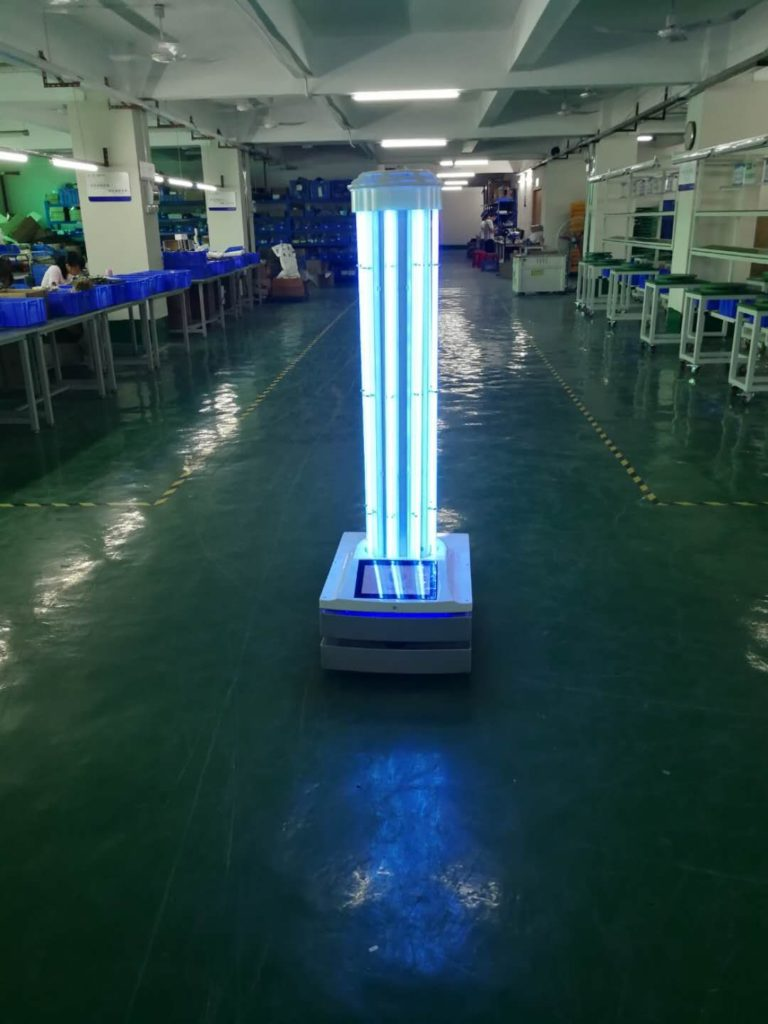 Autonomous UVC Disinfection Robot: SIFROBOT-6.53 UV light