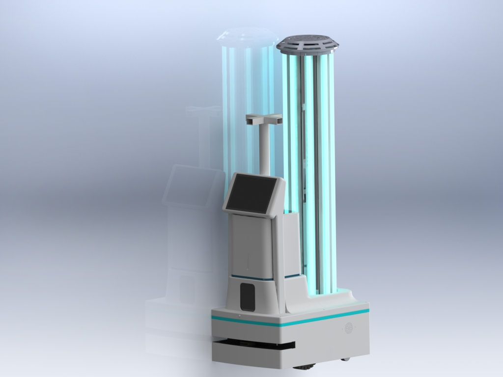 UVC + Disinfectant Sprayer Disinfection Robot: SIFROBOT-6.54