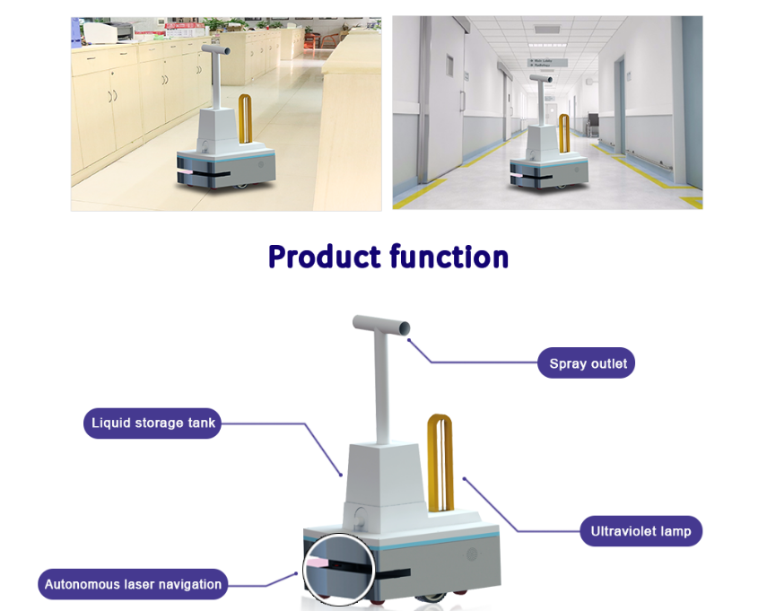 Dry Fog and UV light Disinfection Robot: SIFROBOT-7.01