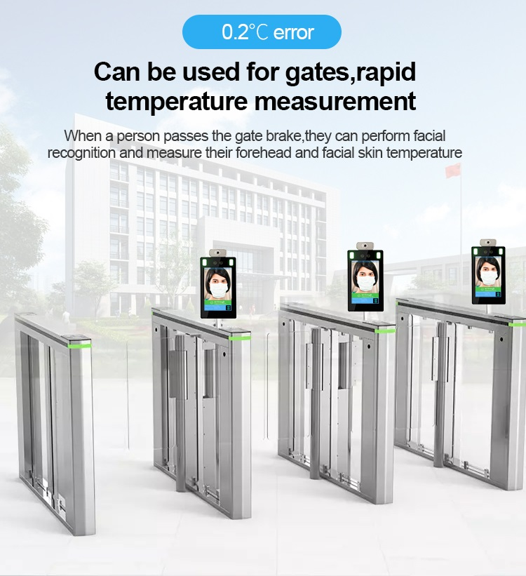 Desk Face Recognition Infrared Non-Contact Thermometer - SIFROBOT-7.33 for gates