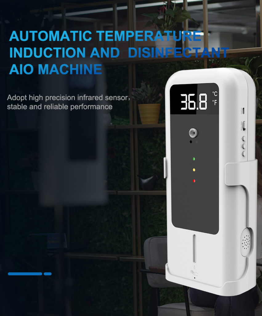 Temperature Detector with Automatic Disinfectant Dispenser: SIFCLEANTEMP-1.4 automatic