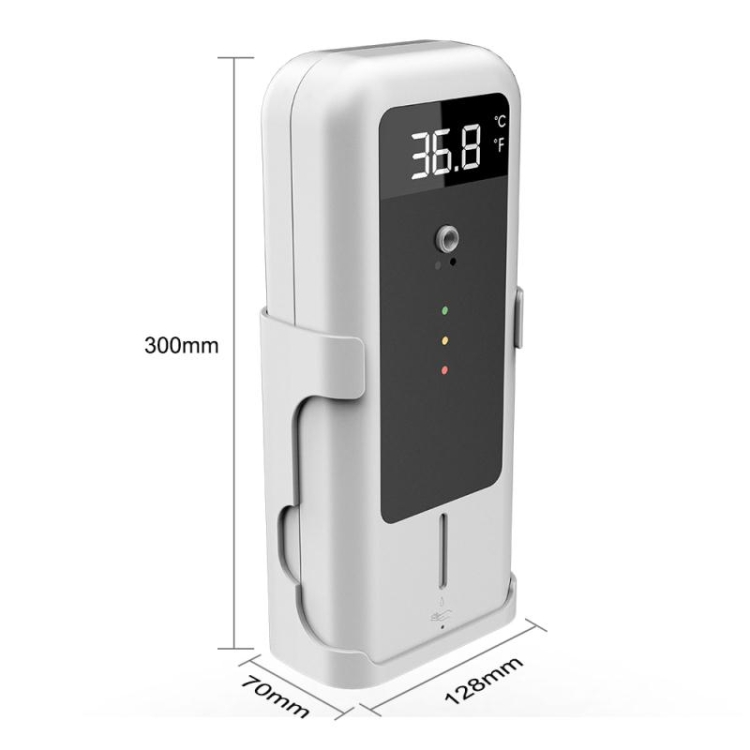 Temperature Detector with Automatic Disinfectant Dispenser: SIFCLEANTEMP-1.4 size