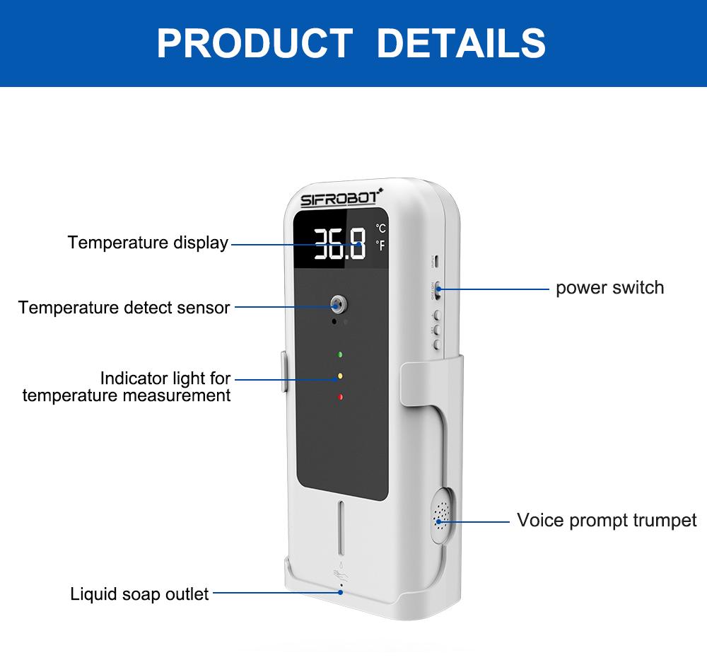 Temperature Detector with Automatic Disinfectant Dispenser