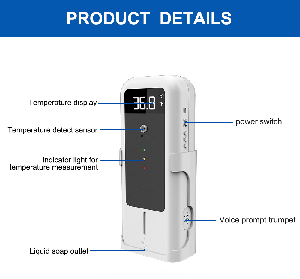 Temperature Detector with Automatic Disinfectant Dispenser: SIFROBOT-7.7