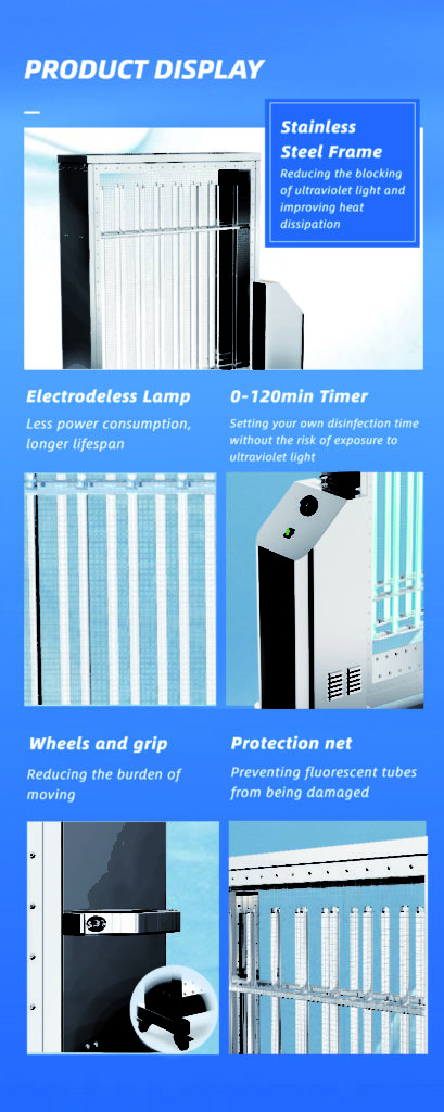 Net protection Disinfection lamp Mobile UVC Sterilization Lamp: SIFUVC-1.0 display