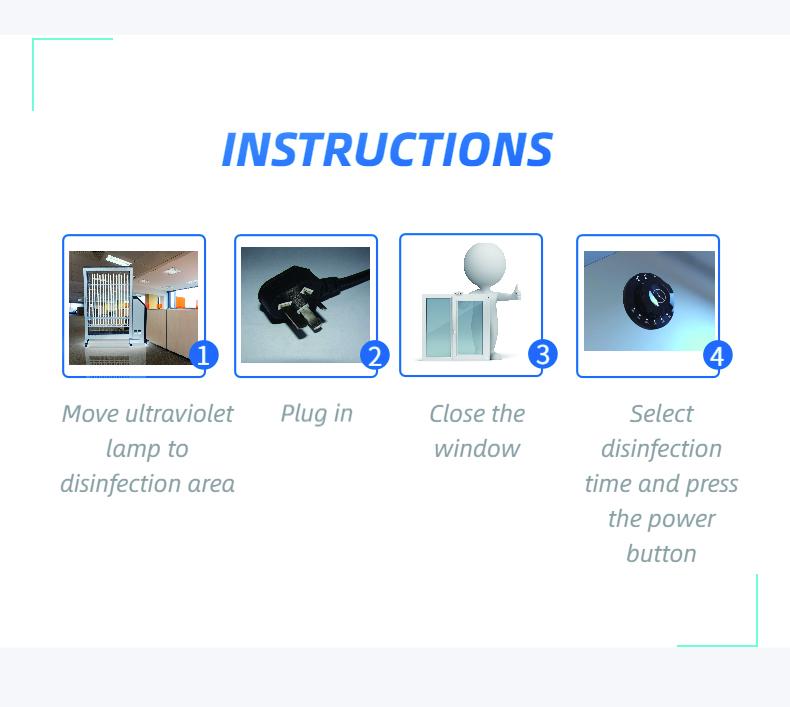 Mobile UVC Sterilization Lamp: SIFUVC-1.0 instructions