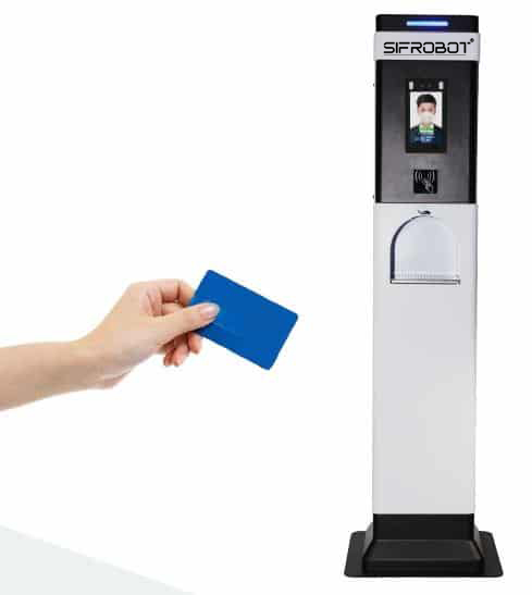 Temperature Checker and Touch-Free Hand Sanitizer Kiosk