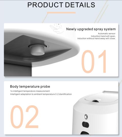 Auto Disinfectant Dispenser & Temperature Checker SIFROBOT-7.74