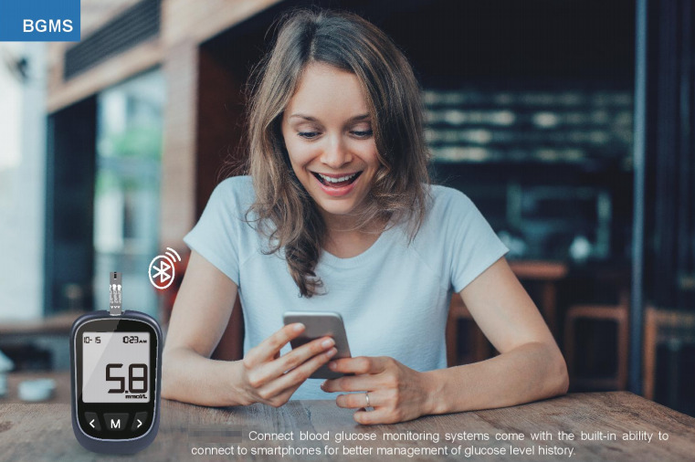 Bluetooth Blood Glucose Meter: SIFGLUCO-3.3 BGMS