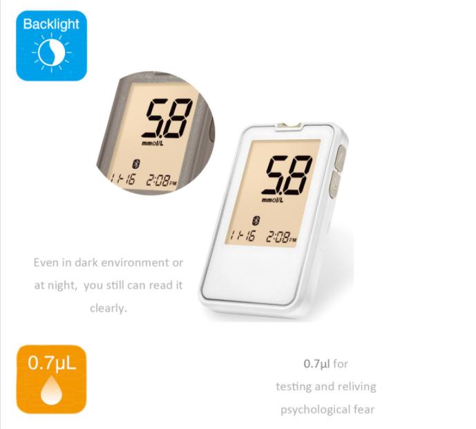 FDA Bluetooth Glucose Meter SIFGLUCO-3.5Blacklight