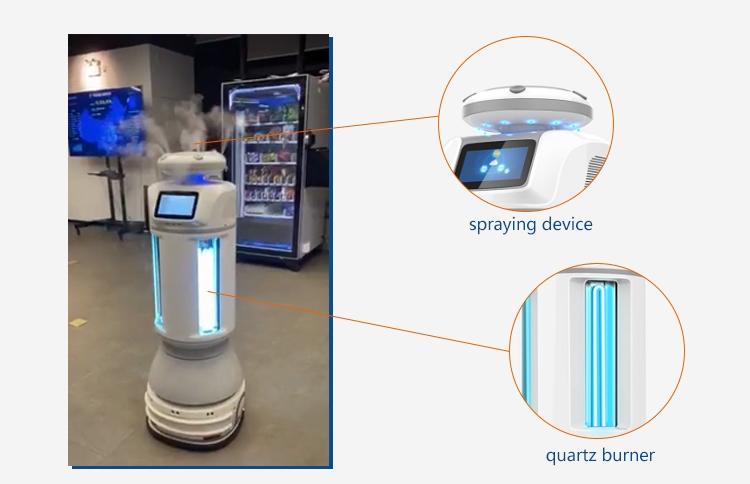 Intelligent Autonomous UVC Disinfection Robot: SIFROBOT-6.56 spray