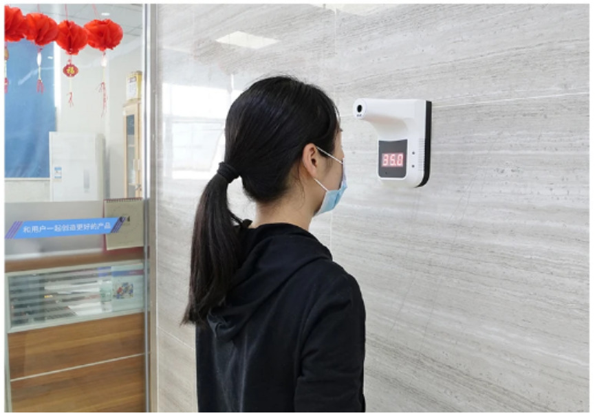 Business Safety Package SAFEBIZPACK-1.1: Bluetooth Wall-Mounted Infrared Thermometer + UV Sterilization Lamp SIFROBOT-7.6 check