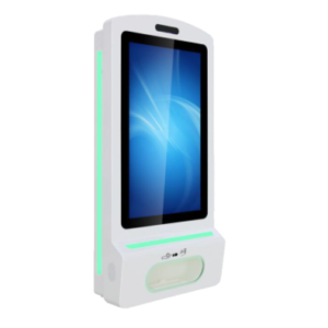 Hand Sanitizer and Temperature Detector Kiosk: SIFROBOT-7.77 auto dispenser
