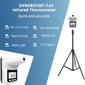 Wall-Mounted Infrared Thermometer + Tripod: SIFROBOTSET-7.61 main pic