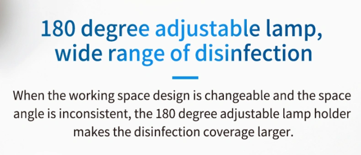 UV Sterilization Lamp: SIFSTERIL-1.1 Adjustable lamp