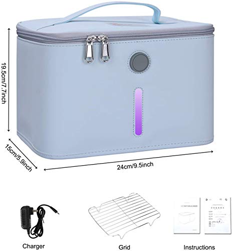 Home Safety Package SAFEHOMEPACK-1.2: Bluetooth Doorbell Non-Contact Thermometer + Disinfection UV Lamp + UV LED Sterilizer Box  + Handheld UV Light Sterilization Stick SIFSTERIL-1.5 demension