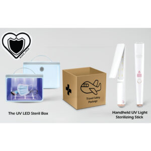 SAFETRAVELPACK-1.5:Handheld UV Light Sterilizing Stick + UV LED Sterilizer Box